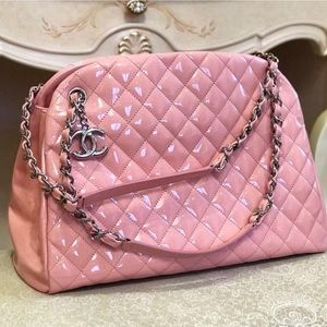 Chanel patent quilted large just mademoiselle